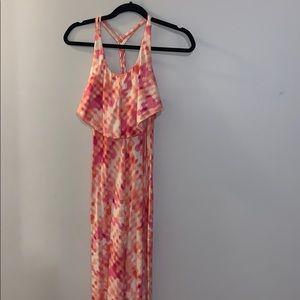 Pink and orange tie dye Patagonia maxi size XS